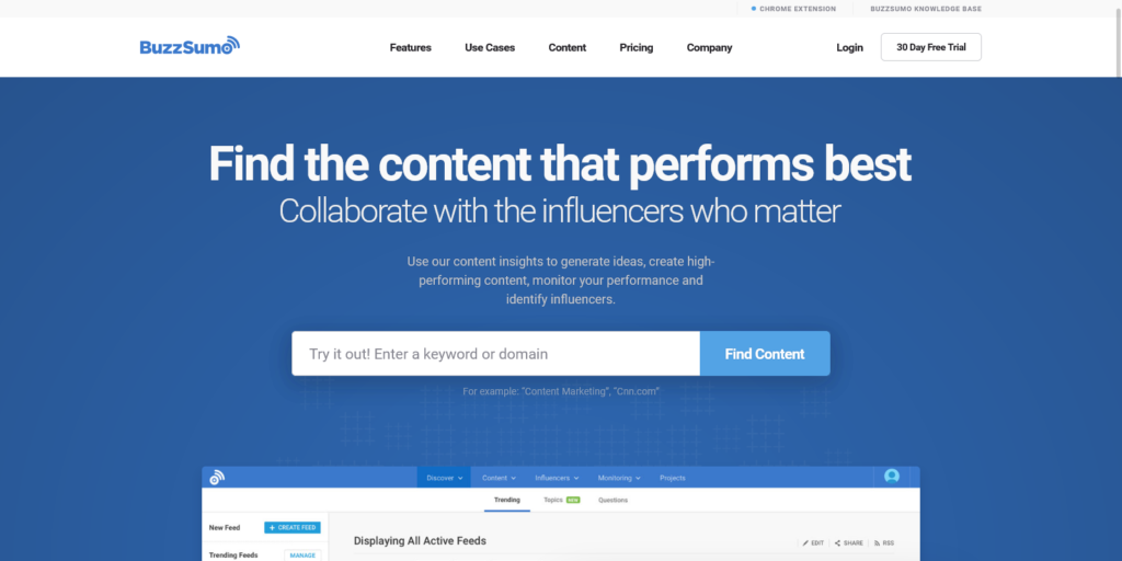 BuzzSumo Find the content that works and the influencers who matter