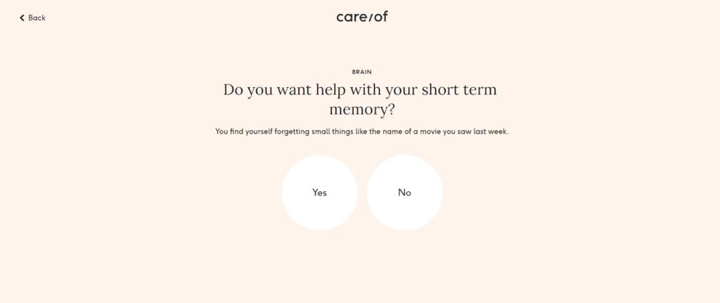 Care Of quiz example