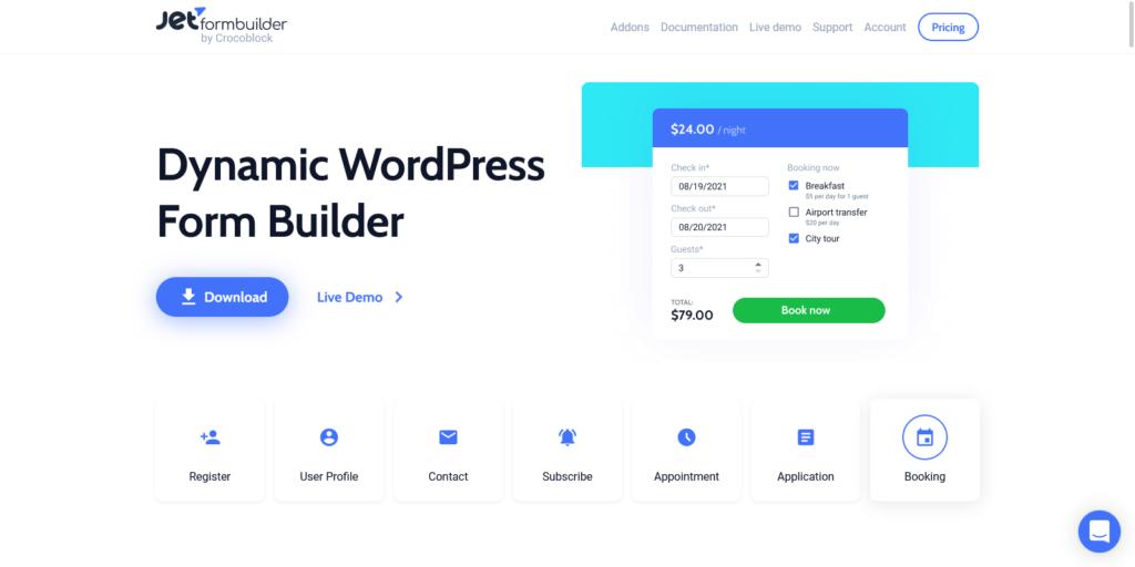 JetFormBuilder Brand New FREE WordPress Form Builder