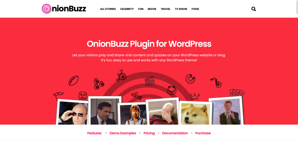 OnionBuzz Plugin for WordPress – Create Your Viral Quizzes and Stories