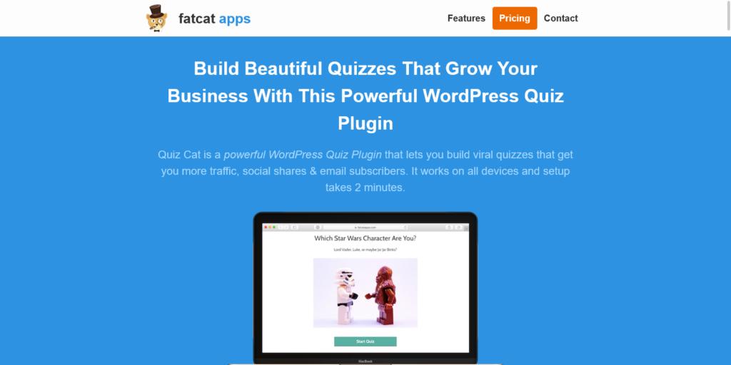 Quiz Cat WordPress Quiz Plugin Build Incredible WordPress Quizzes