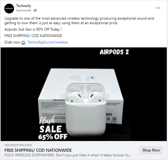 Technofy discount example
