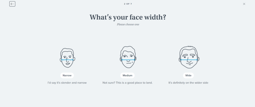 Warby Parker quiz example