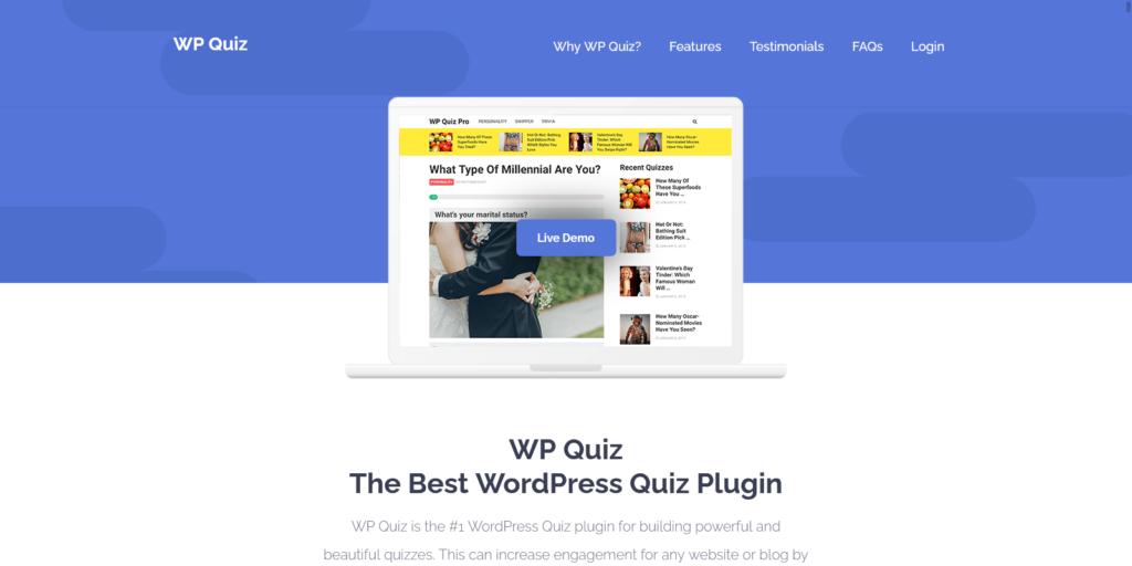 WordPress Quiz Plugin WP Quiz