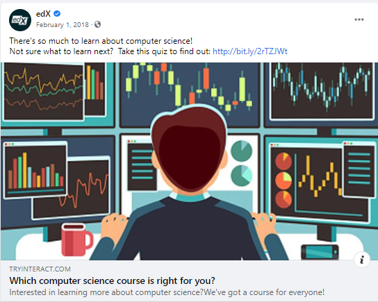 edX post about quiz