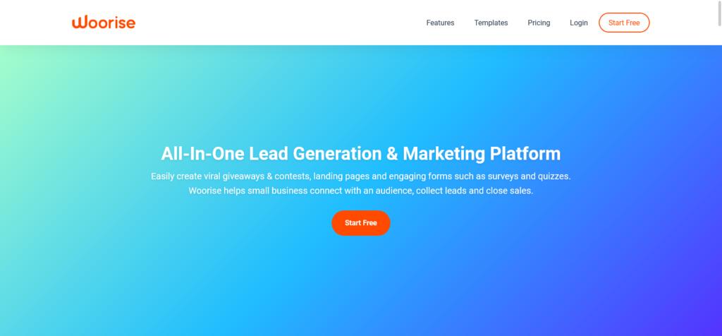Woorise all in one lead generation platform