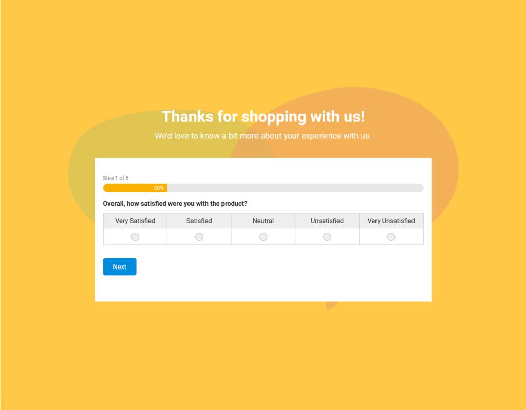 Woorise Customer Feedback Example