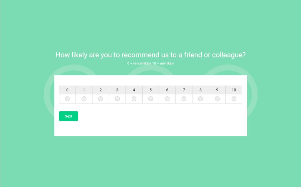 woorise nps survey template example