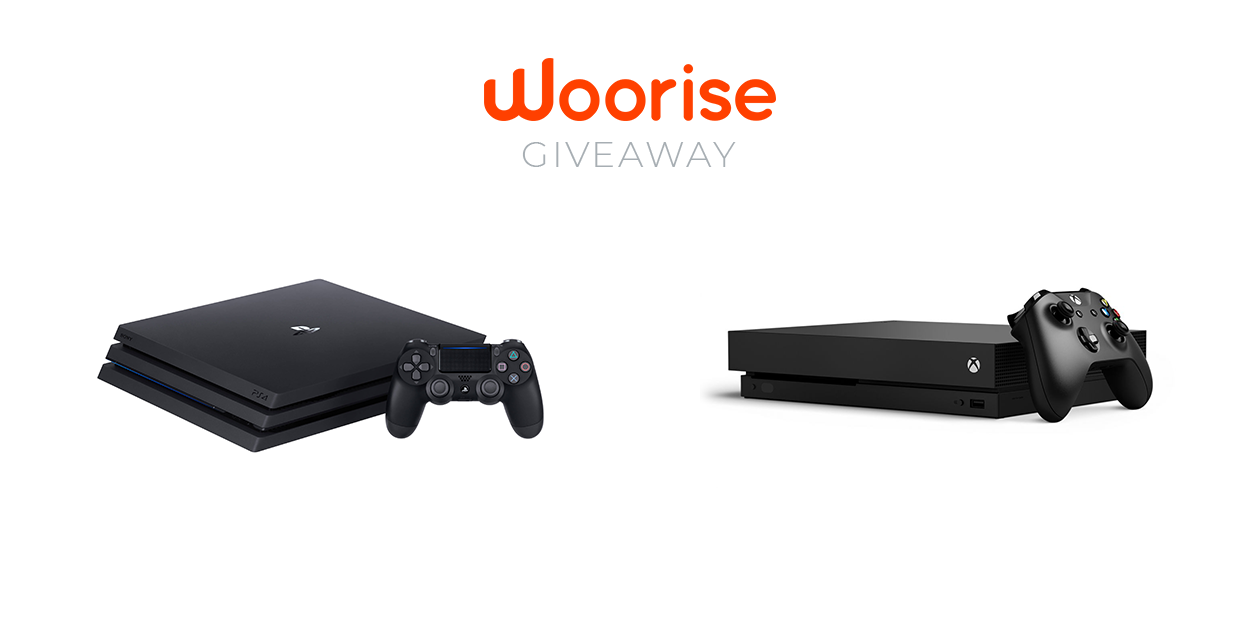 Woorise Contest: Win PlayStation 4 or Xbox One X + 10 games